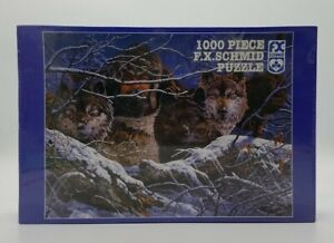 The Predators 1000 Pcs Jigsaw Puzzle FX Schmid 20x27 New Tom Antonishak Wolves