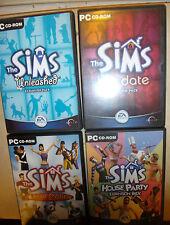 PC The Sims 1 i bundle base +4 pacchetti di ESPANSIONE HOT DATE scatenato LIVIN 'It Up + +