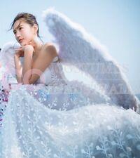Plus Size 100cm X 80cm Feather Wings White Angel Fairy Black Devil Halloween
