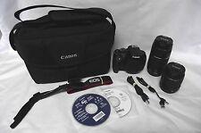 Canon EOS Rebel T5 18.0 MP Digital SLR Camera 18-55 & 75-300mm Lens w/ Bag