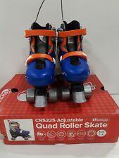 CHICAGO Skates Boys Adjustable Junior Quad Skates - Blue/Black/Orange SIZE/1-4