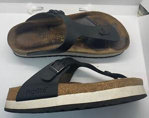 Papillio Birkenstock Gizeh black Birko-flor platform thong sandals 39/ 8L 6M EUC