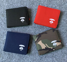 New Bape A Bathing Ape Shark Head Camo Card Holder Wallet Bag Purse Gift Canvas