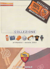 Official Merchandise Catalogue AS Roma 2003