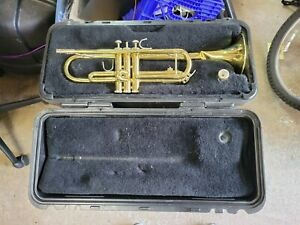 Bach TR300 Brass Student Trumpet in Case + Mouthpiece used dented