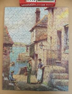 MAMMOTH card jigsaw puzzle no.115 HOUSE IN POLPERRO  c.1940