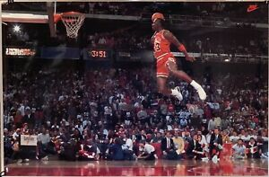 "Original 1992 Michael Jordan Nike Poster 23"" X 35"" Day Dream Graphics Laminated"