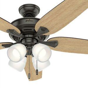 Hunter Fan 60 in. Noble Bronze Ceiling Fan with 4 LED Lights