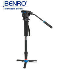 Benro  Professional Photography tripod Monopod with S4 Fluid head A48TDS4
