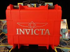 Invicta 8 Slot Red/Grey Dive Storage Collector Waterproof Impact Watch Case NEW!