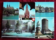 AK Ansichtskarte Basel  Münster Wasserspiele Bank Schweiz kostenloser Versand