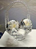 Crystal Glass ALLAH & MUHAMMAD Beautiful Basket Islamic Home Decor EID GIFT BOX