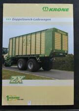 KRONE Doppelzweck Ladewagen ZX 40 45 Schlepper Traktoren Prospekt