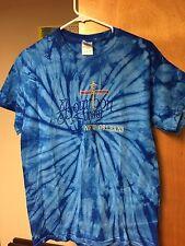 NEW ORLEANS T-shirt BOURBON STREET Tie Dye Medium French Quarter Blue EUC