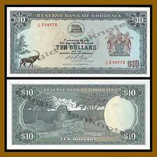 Rhodesia 10 Dollars, 1975 P-33i Unc