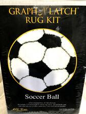 "Graph N Latch Hook Rug Soccer Ball 26"" Round Mcg Textiles New"