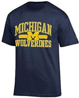 NCAA Michigan Wolverines Champion Blue University Short Sleeve T Shirt