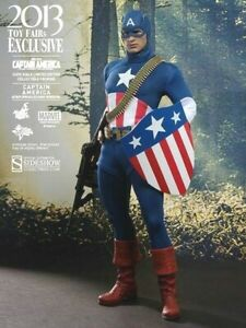 HOT TOYS Captain America -Star Spangled Man MMS205 Sideshow 1:6 Sixth Scale -NEW