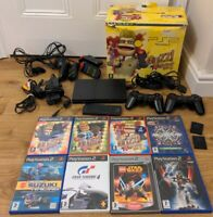 Sony Playstation 2 PS2 Slim Console Buzz The Music Quiz Boxed Bundle 8 Games