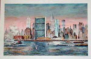 Kamil Kubik,  East River, NY,  Signed Serigraph