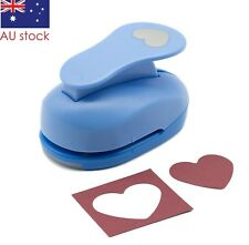 """Heart paper punch 1.5"""" 3.8cm blue craft punches scrapbooking cardmaking wedding"""