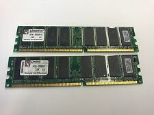 1GB ( 2X512MB) DDR1 RAM 400MHz PC3200 184PIN DIMM nonECC Computer Memory