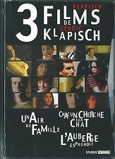 COFFRET NEUF 3 DVD CEDRIC KLAPISCH L'AUBERGE ESPAGNOLE - UN AIR DE FAMILLE - CHA