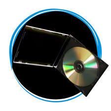 50 5.2mm Slim Single Black CD Disc Storage Jewel Case