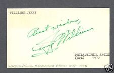 Jerry R. Williams signed government postcard 1923-1998