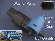 Front & Rear Windscreen Washer Pump VW Touran 2003 2004 2005 2006 2007 2008 etc