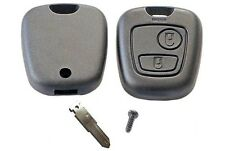 for Peugeot 206 2 button remote key case shell with blank key blade for repair