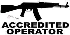 Accredited Operator Ak47 Gun Sticker Bumper Sticker