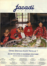 PUBLICITE ADVERTISING  1994    JACADI  vetements enfants édition Belge
