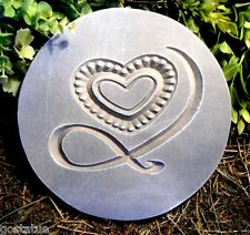 Gostatue heart with ribbon plaque mold plaster mold concrete mold plastic mold
