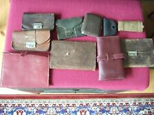 LOT OF TEN ANTIQUE + VINTAGE LEATHER PURSES, WALLETS, COIN HOLDERS