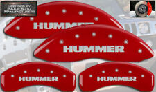 """2003-2009 """"Hummer"""" H2 Front + Rear Red Engraved MGP Brake Disc Caliper Covers"""