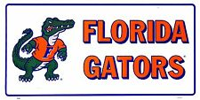 Florida Gators White Mascot Car License Plate Auto Tag Sign