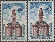 "FRANCE TIMBRE N° 1500 "" PORTE HORLOGE VIRE VARIETE COULEUR "" NEUF xx TTB K125B"