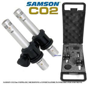SAMSON C02 COPPIA DI MICROFONI A CONDENSATORE PANORAMICI Supercardioidi Pencil