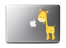 "Cartoon Giraffe Full Color - Vinyl Decal for 13"" Macbook"