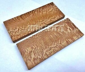 Pair of Chanar Wood Scales Knife Handle Making Blanks Crafts 13x5cm