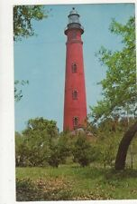 Lighthouse At Inlet Harbor Daytona Beach Fla Old Postcard USA 405a ^