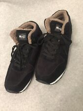 Woolys Black Casual Suede Plush Winter Sneakers Shoes Mens Size 44 (US size 10)