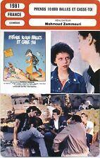Movie Card. Fiche Cinéma. Prends 10 000 balles et casse-toi (France) 1981