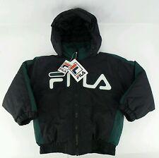 NWT Vintage FILA Winter Puffer Full Zip Jacket Size Kids Large L