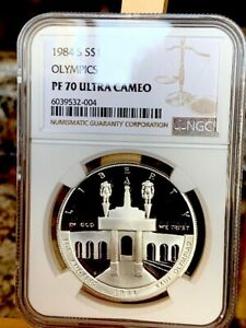 1984-S Olympics $1 NGC PF 70 Ultra Cameo * Price Guide $325 - Beauty! *