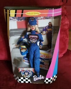 Barbie 1998 NASCAR 50th Anniversary NRFB Doll Blue Uniform