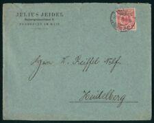 Mayfairstamps Germany 1899 Frankfurt to Heidelburg Cover wwo28691