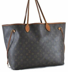 Authentic Louis Vuitton Monogram Neverfull GM Tote Bag M40157 LV D4977