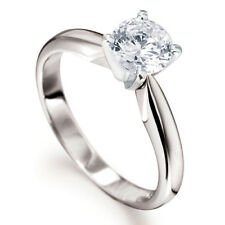 0.33CT SOLITAIRE DIAMOND 4 TULIP CLAW  ENGAGEMENT RING 18ct WHITE GOLD 750